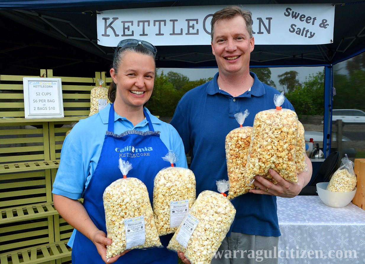 Carl and Sandra Wenz kettle corn rokeby market warragul baw baw citizen by william pj kulich